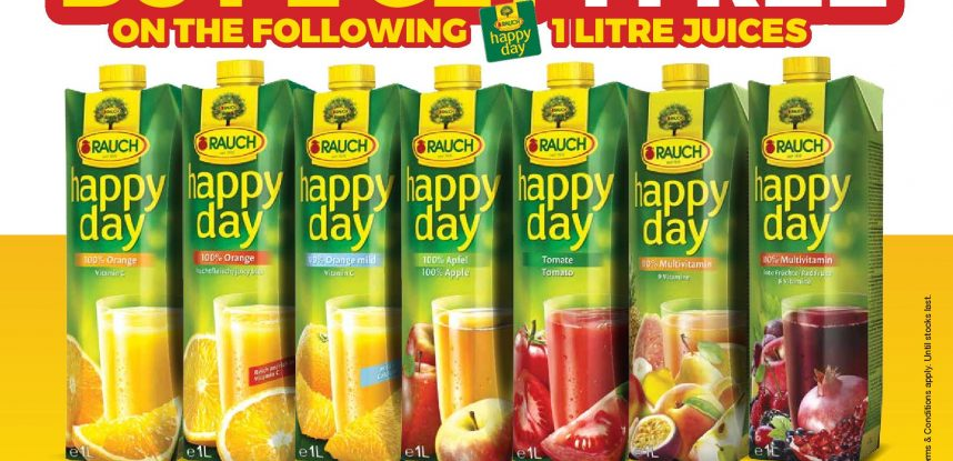 #Buy2Get1FREE with HAPPY-DAY juices!